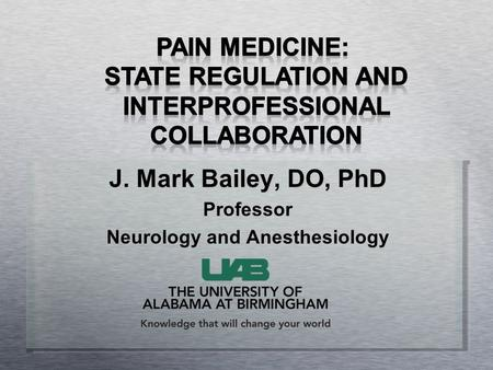 Neurology and Anesthesiology