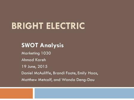 swot analysis lincoln electric Lincoln electric holdings swot analysis / matrix essays, term papers & research papers swot analysis is a vital strategic planning tool that can be used by lincoln electric holdings managers to do a situational analysis of the organization.