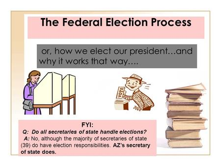 The Federal Election Process