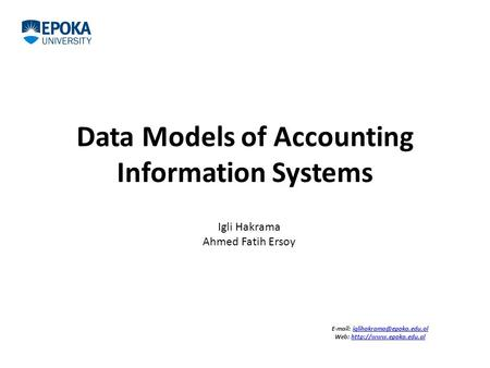 Data Models of Accounting Information Systems   Web: