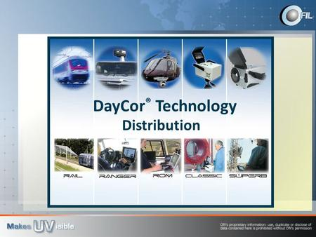 DayCor ® Technology Distribution. DayCor® Technology is used to detect Corona Particle Discharge and Arcing on electric grid components. It offers you: