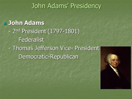 an introduction to the democratic republicans through the presidencies of thomas jefferson and james The presidency of thomas jefferson the democratic-republicans had planned for one (1968), standard scholarly history of presidencies of jefferson and.