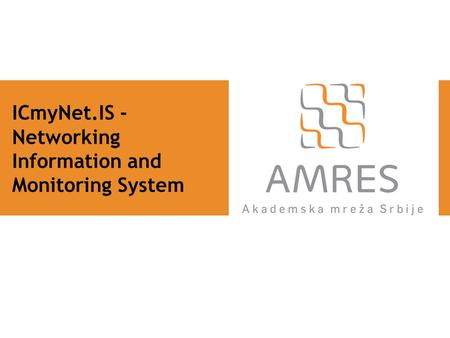 ICmyNet.IS - Networking Information and Monitoring System.
