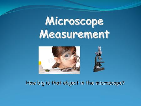Microscope Measurement