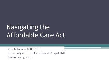 affordable healthcare act in north carolina 1 the affordable care act and north carolina christopher j conover, phd center for health policy and inequalities research duke university march 12, 2014.