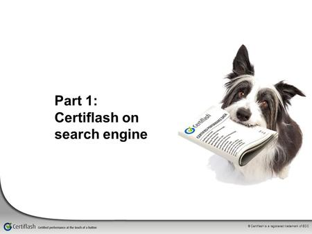 ® Certiflash is a registered trademark of ECC Part 1: Certiflash on search engine.