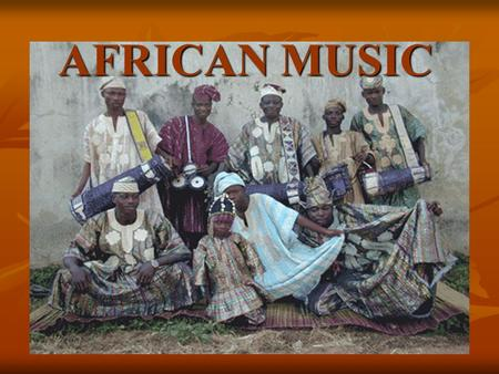AFRICAN MUSIC. KEYWORDS Polyrhythm (cross-rhythm) Polyrhythm (cross-rhythm) Polyphony Polyphony Call and response Call and response Master drummer Master.