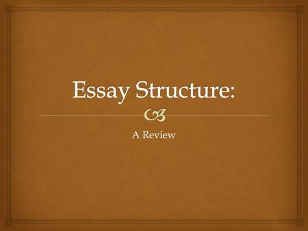 A Review.  Introduction Paragraph   An opening sentence that introduces the topic of your opinion piece  3 sentences (minimum), which describes the.