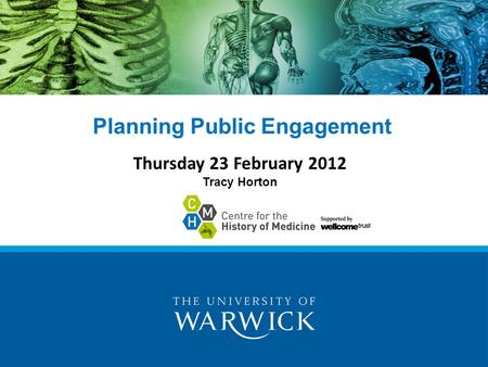 Planning Public Engagement Thursday 23 February 2012 Tracy Horton.