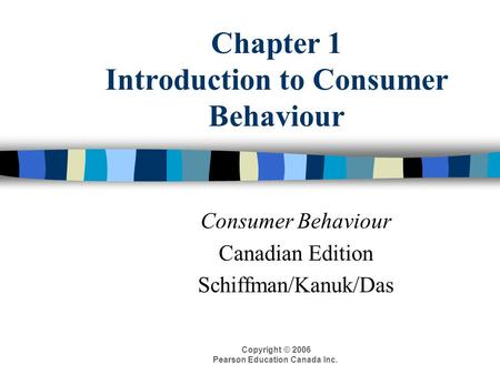 introduction to consumer behaviour Fox executive mba program introduction • consumer behavior is influenced by numerous factors • what, why, where, when and how • three major conditions.