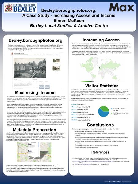 Www.postersession.com In 1993 Simon Fowler defined income generation by archives as 'those activities organised by archival staff with the aim of raising.