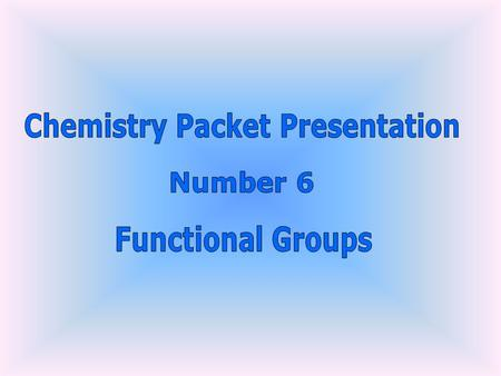 Chemistry Packet Presentation