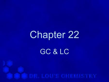 Chapter 22 GC & LC. 22.1 Gas Chromatography -1 1.Schematic diagram.