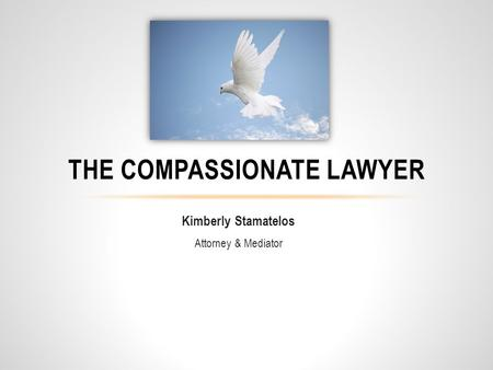 Kimberly Stamatelos Attorney & Mediator THE COMPASSIONATE LAWYER.