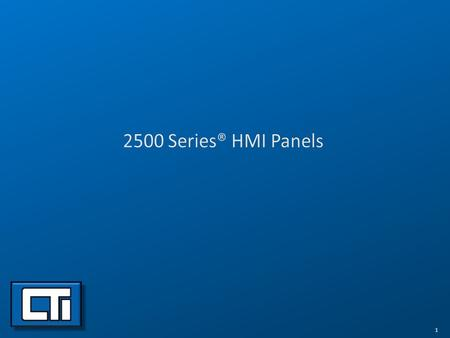 2500 Series® HMI Panels.