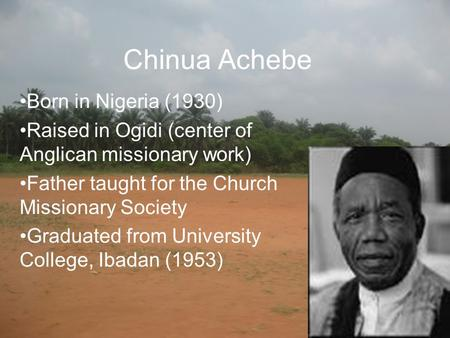 civil peace by chinua achebe essay Thorough analysis and response essay on civil peace by chinua achebeessay by notchbmx, college, undergraduate, december 2003.