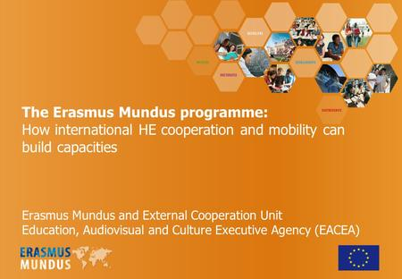 The Erasmus Mundus programme: How international HE cooperation and mobility can build capacities Erasmus Mundus and External Cooperation Unit Education,