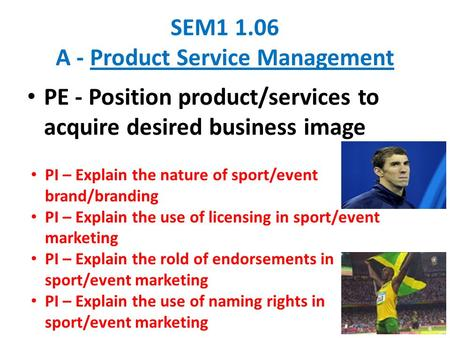 SEM A - Product Service Management