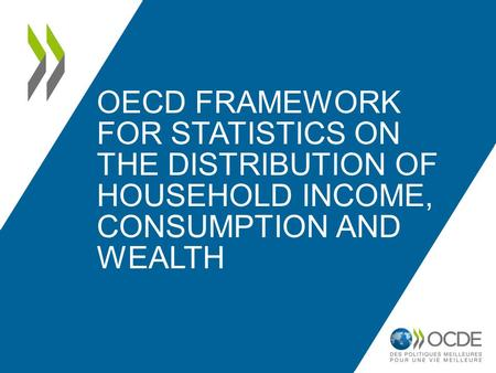 OECD FRAMEWORK FOR STATISTICS ON THE DISTRIBUTION OF HOUSEHOLD INCOME, CONSUMPTION AND WEALTH.