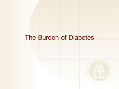 The Burden of Diabetes 1. Prevalence of Diabetes and Prediabetes in the United States 2 1. CDC. National diabetes fact sheet, 2008.