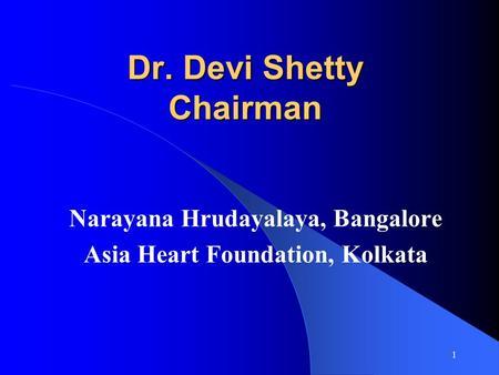 Narayana hrudayalaya heart hospital cardiac care for the poor