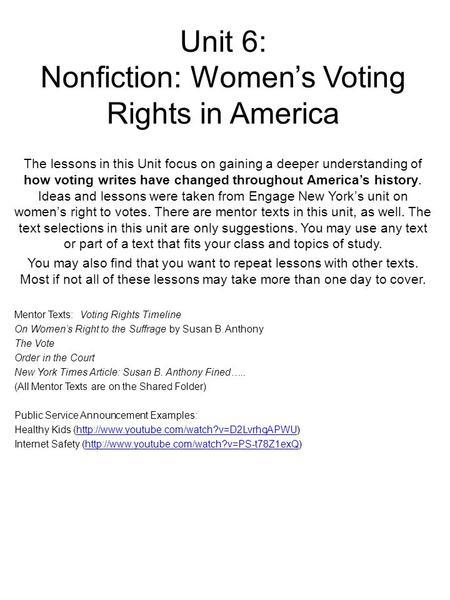 Essays over voting