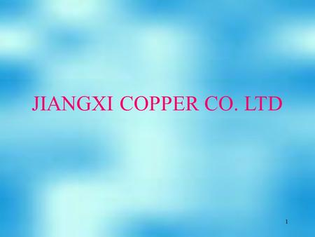 1 JIANGXI COPPER CO. LTD. 2 During the period of copper price downward-going, Jiangxi Copper was tempered and grown up. LME Copper Price Trend since 1997.