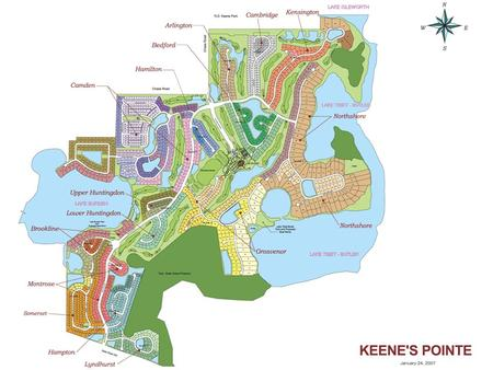 KEENE'S POINTE OPERATIONS BUILDING  Keene's Pointe has approximately 1,060 residential lots with over 3,000 residents.  15 miles of roads  100 acres.