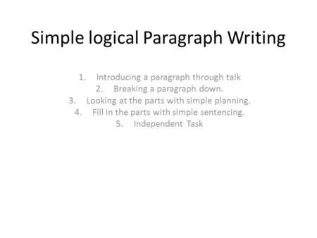 example logical division essay