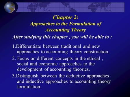 Accounting Theory ( 6th edition) Wolk, Dodd & Tearney