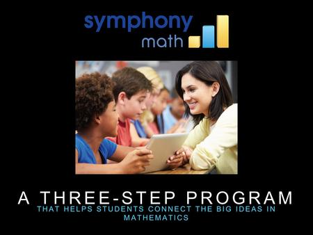 A THREE-STEP PROGRAM THAT HELPS STUDENTS CONNECT THE BIG IDEAS IN MATHEMATICS.