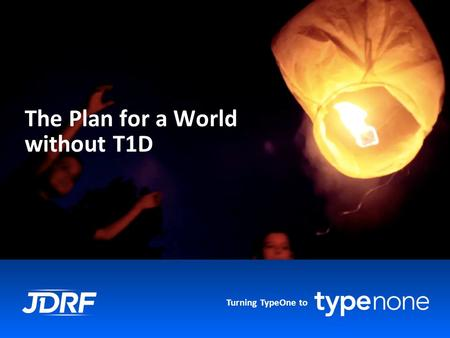 Turning TypeOne to The Plan for a World without T1D.