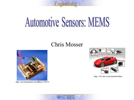 Automotive Sensors: MEMS