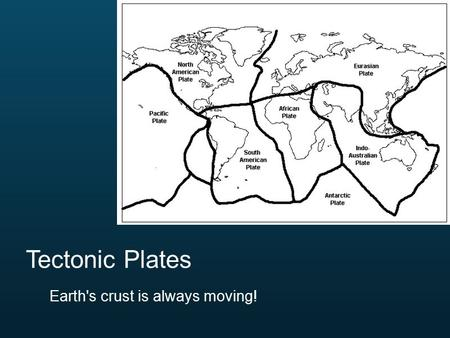 Tectonic Plates Earth's crust is always moving!.