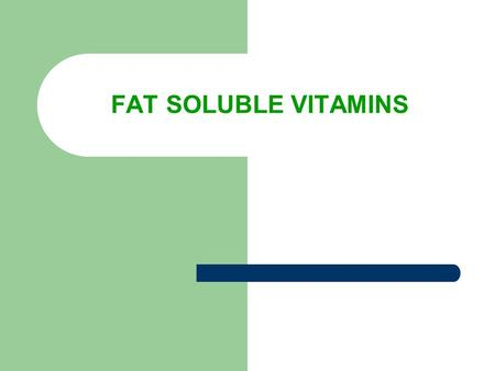 FAT SOLUBLE VITAMINS. FYI Your body can store excesses of fat soluble vitamins and can draw on reserves when your intake is low.