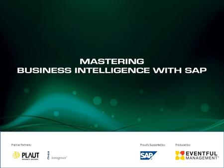 A Guide to Plan and Manage a Successful SAP BI Implementation