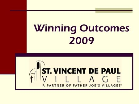 Winning Outcomes 2009. Overview Showcase 6 Division Outcomes 6 Division Outcomes from 2009 demonstrating the success of 17 Programs 17 Programs at St.