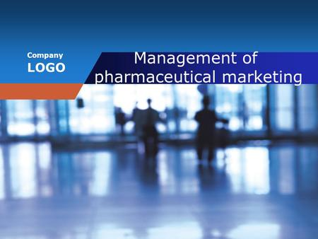 Company LOGO Management of pharmaceutical marketing.