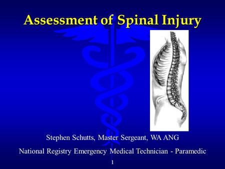 Assessment of Spinal Injury