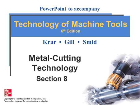 Metal-Cutting Technology