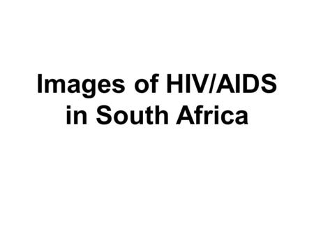 Images of HIV/AIDS in South Africa. Children run past a mural painting of an Aids ribbon at a school in Khutsong Township, 74 km (46 miles) west of Johannesburg.