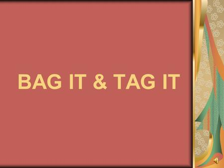 BAG IT & TAG IT Create a beautiful gift bag with matching tag by: Creating a 3-D flower and leaves Gluing onto a gift bag Gluing on the matching flower.