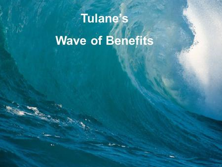 1 Tulane's Wave of Benefits. 2 Eligibility Health Plan Dental Plan Life & Disability Insurance Flexible Spending Retirement Employees Assistance Program.