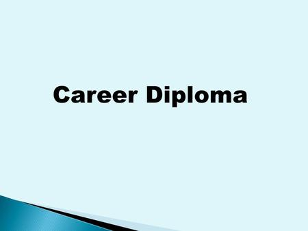 Career Diploma. (Incoming Freshmen 2008-2009 and beyond) English - 4 Units * English I, English II * The remaining units come from the following: Technical.