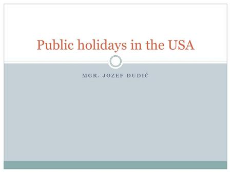 Public holidays in the USA