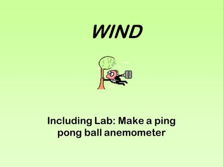WIND Including Lab: Make a ping pong ball anemometer.