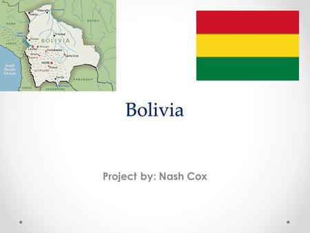 Bolivia Project by: Nash Cox. Interesting Facts Bolivia declared its independence from Spain on August 6 th 1825. Population is estimated 10,907,778.