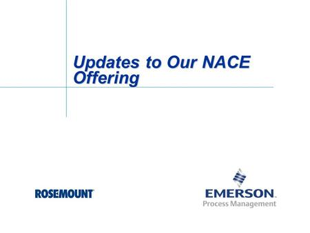 Updates to Our NACE Offering