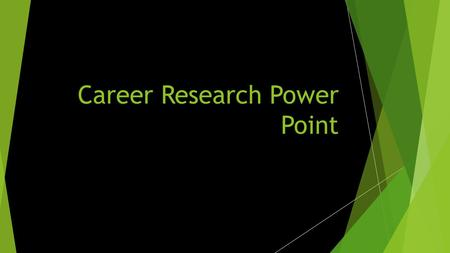 Career Research Power Point My Top Cluster  Health Science was my top cluster  My video link for this cluster is (http://www.careeronestop.org/Vi deos/CareerandClusterVideos/care.