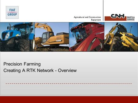 Precision Farming Creating A RTK Network - Overview.